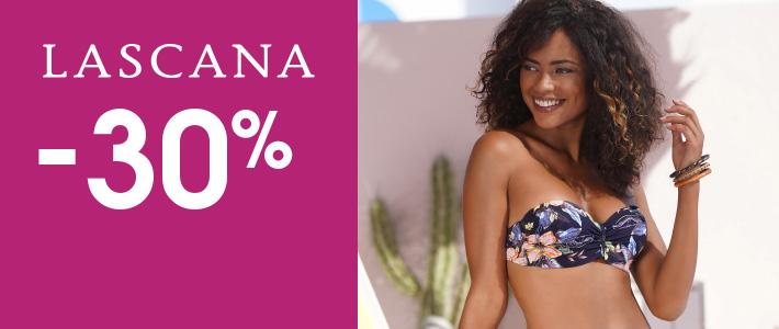 30% auf alle Bikinis und Badeanzüge Gilt für noch nicht reduzierte Ware von Lascana