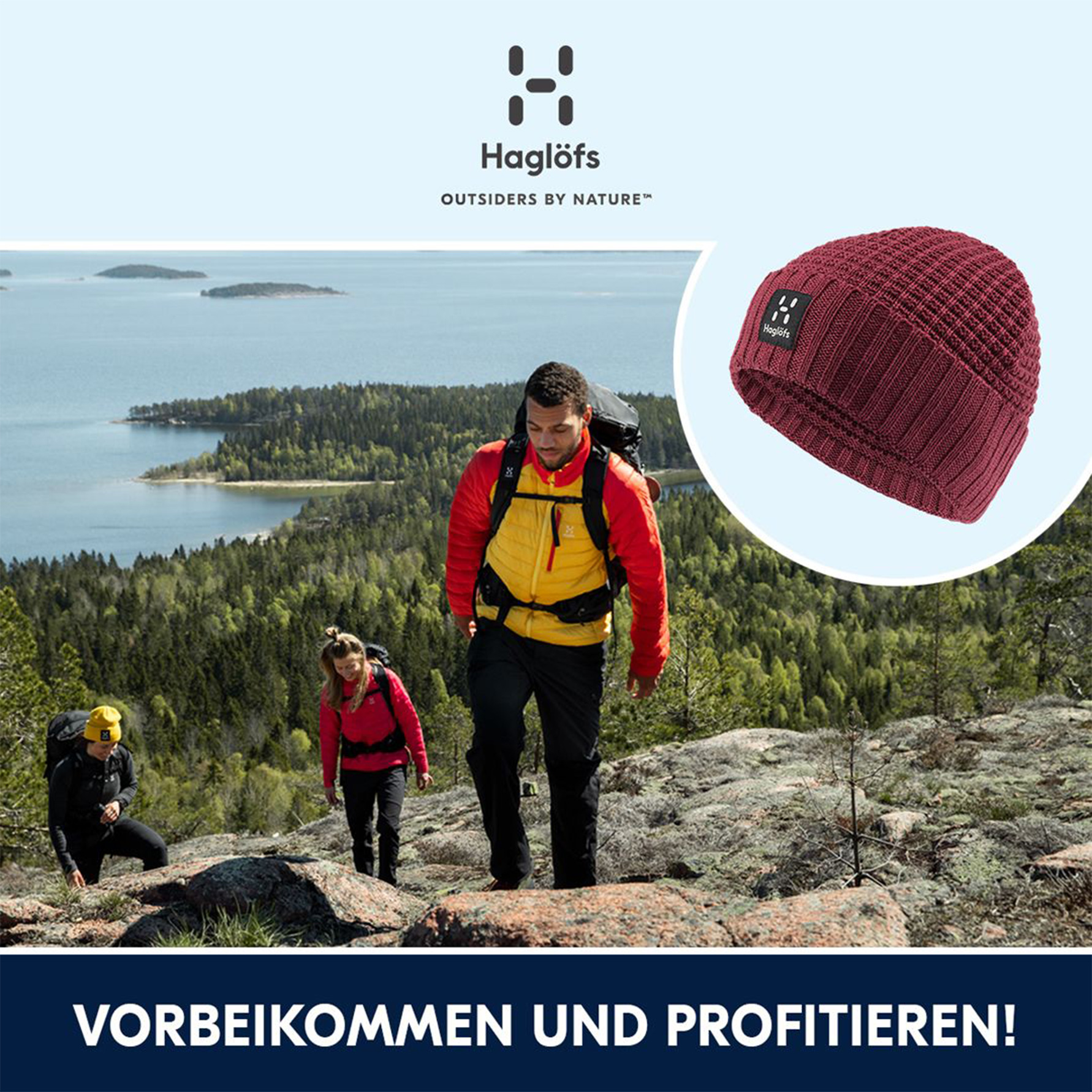 Haglöfs Mütze geschenkt in der Sportlerei in Erding